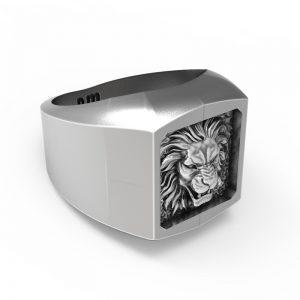 Signet Rustic Lion